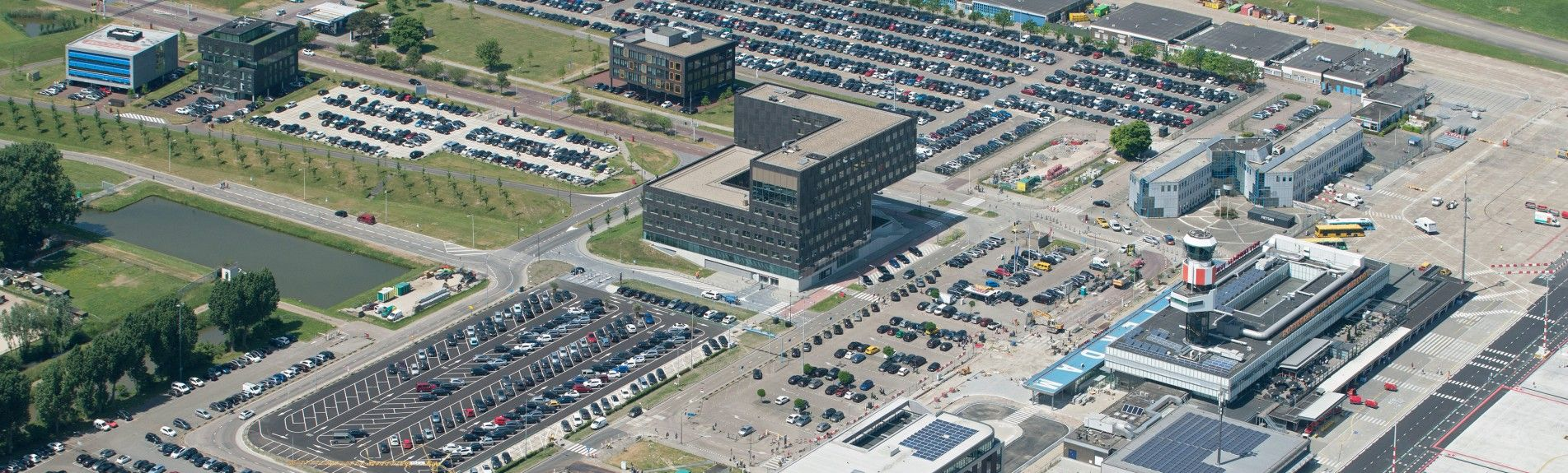 Air view Business Park Rotterdam The Hague Airport